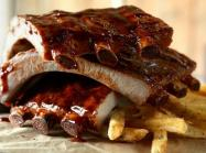 Ribs at TGI Fridays restaurant.