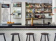 Interior of the bar Dante in New York City