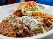 A plate of Mexican food at Chuy's restaurant.