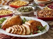 Thanksgiving dinner spread from Cracker Barrel