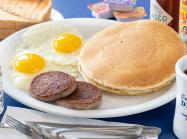 Pancake breakfast at Bob & Edith's Diner.