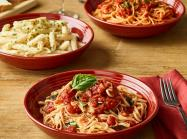 Spaghetti dishes at Carrabba's Italian Grill.