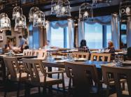 Interior of empty restaurant.