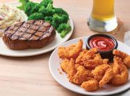 Applebee's steak and shrimp.