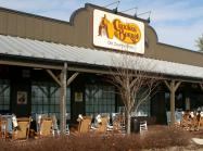 Cracker Barrel exterior of restaurant.
