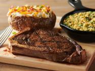 Outback Steakhouse New York Strip steak.