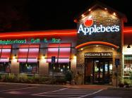 Applebee's restaurant at night.