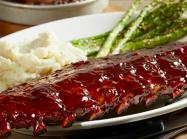 Ribs at BJ's Restaurant & Brewhouse.