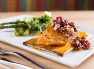 Fish dish at Walnut Grill restaurant.