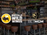 Buffalo Wild Wings restaurant with two logos shown.