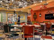 Inside a Chuy's restaurant.