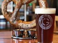 Beer and a pretzel at Granite City.