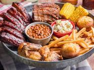 Famous Dave's barbecue platter.