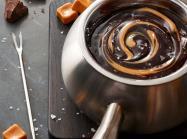 Bowl of chocolate fondue at The Melting Pot.