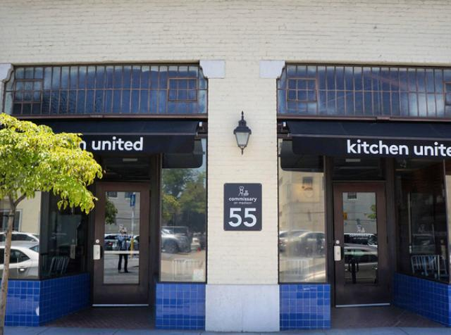 The exterior of Kitchen United.