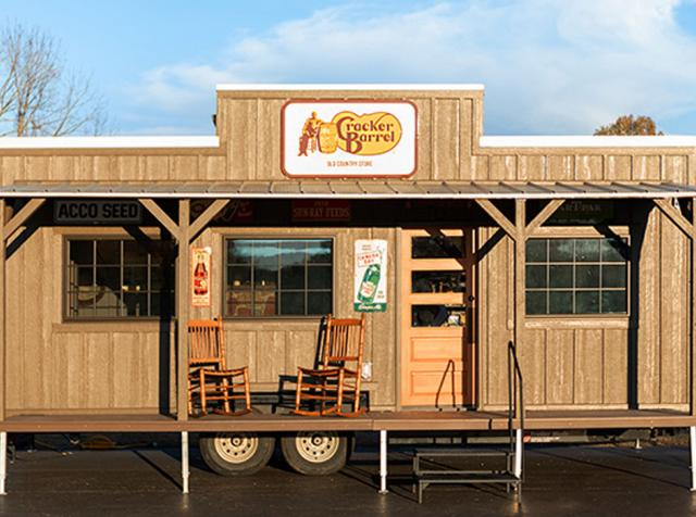 Cracker Barrel tiny house.