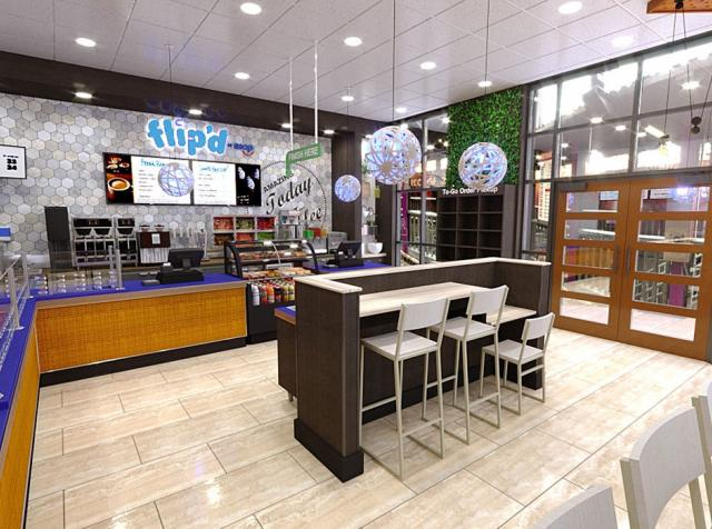 Flip'd by IHOP interior fast casual restaurant.