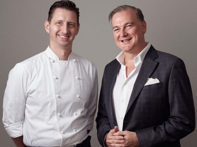 Executive Chef Christopher Grossman and Geno Dew.