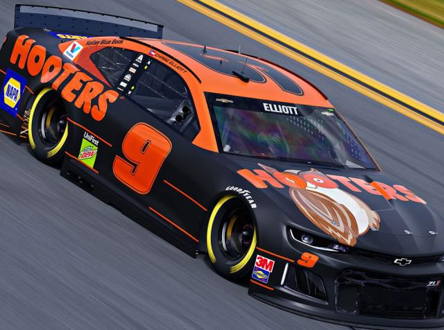 Hooters race car.