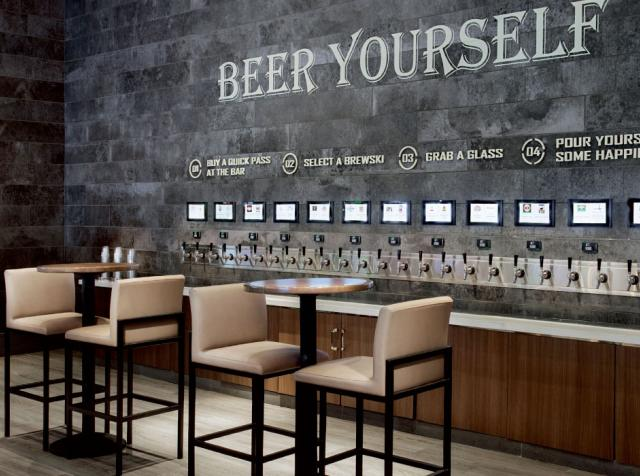Pourmybeer works well in sports bars like The Book at The Linq Hotel & Casino.