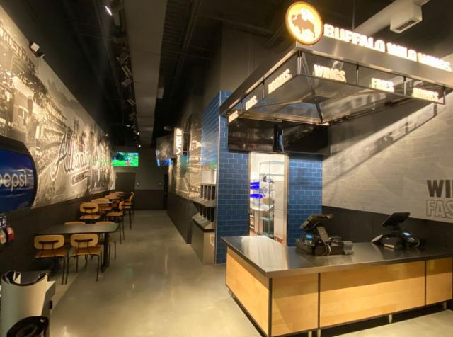 Buffalo Wild Wings to-go restaurant interior.