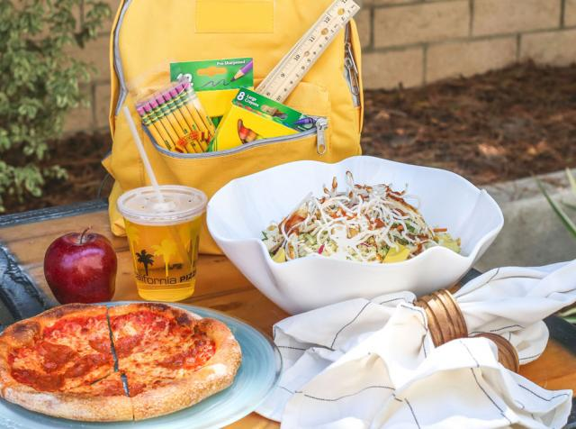 California Pizza Kitchen's back to school specials.