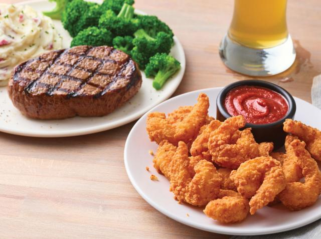 Applebee's double crunch shrimp and steak.