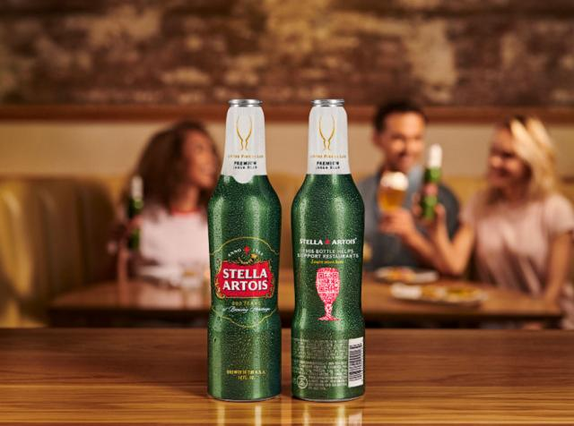 Stella Artois bottle.
