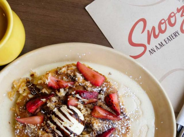 Pancakes at Snooze restaurant.