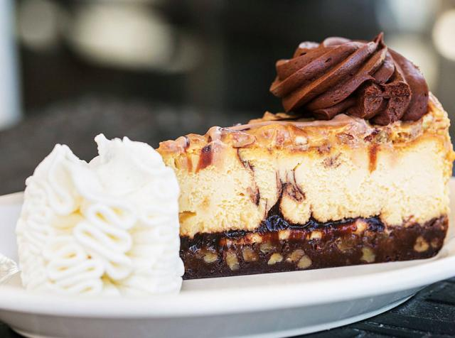 Cheesecake Factory caramel-pecan turtle cheesecake
