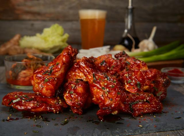 Korean BBQ Wings at Duffy's Draft House in Florida.