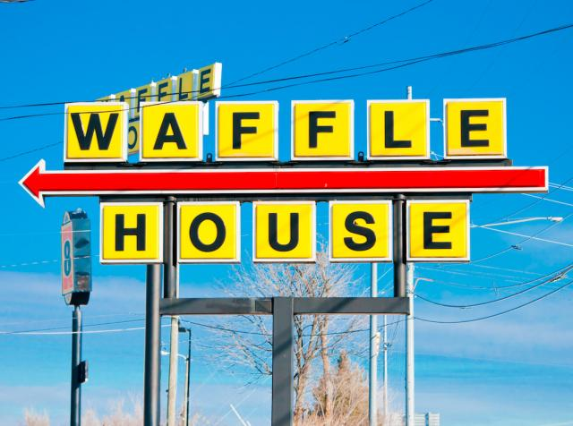Photo of a Waffle House sign