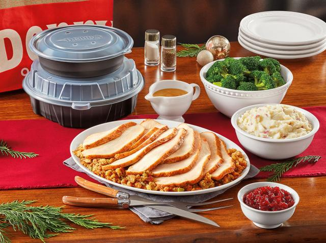 Denny's new Turkey & Dressing Dinner Pack.