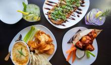 An array of dishes at 110 Grill restaurant.
