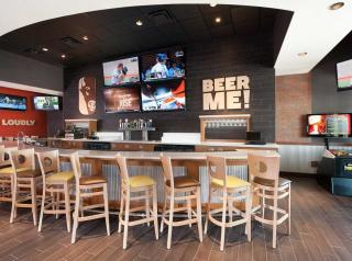 Interior of Buffalo Wings & Rings.