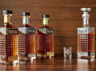 4 bottles of Belfour Spirits
