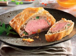 Veal tenderloin in puff pastry