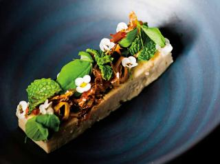 While fish is a mainstay of the Kikkō tasting menus, tofu also gets its due with ramps, green almond, and fried bonito.