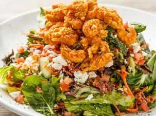 Salad with fried topping at Walk-On's Bistreaux & Bar.