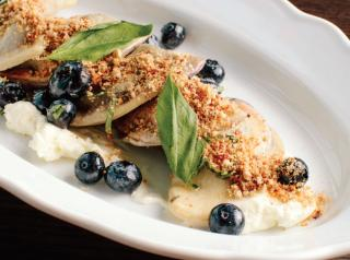 Polish and Italian flourishes shine in the Blueberry Marscapone pierogis at Maddon's Post.