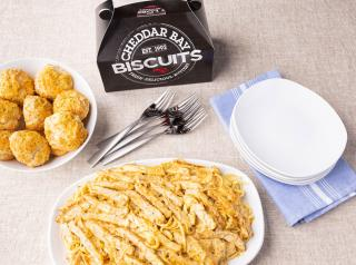 Red Lobster family meal deal, with box of cheddar bay biscuits.
