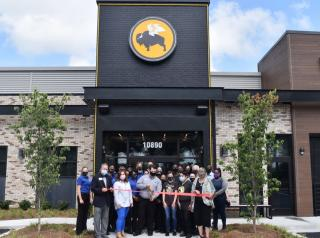 Buffalo Wild Wings ribbon cutting on a new restaurant.