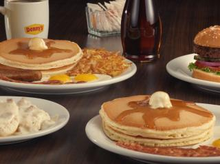 Denny's platter of food.