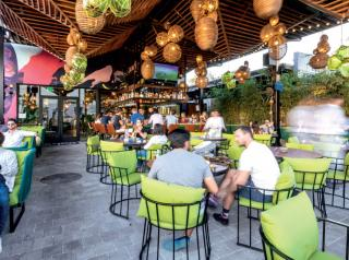 Unlike restaurants in other parts of the country, Bakan can utilize its outdoor dining space year-round.