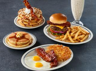 IHOP bacon menu.