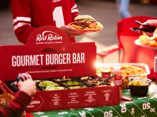 Red Robin's Gourmet Burger Bar comes individually wrapped and made-to-order with a choice of protein, bun and cheese.