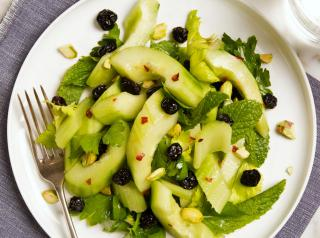 Cucumber, Celery, Blueberry and Pistachio Salad