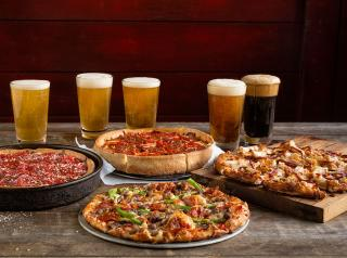 Beer and pizza paired together at Uno Pizzeria & Grill. What could be better?