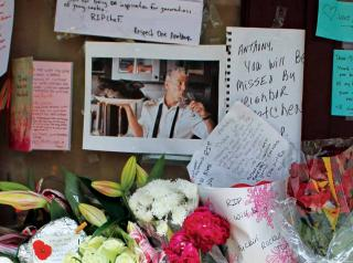 Fans leave tributes where Anthony bourdain got his start.