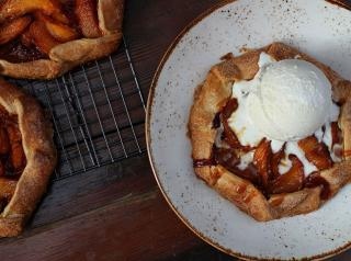 Hand pies with ice cream at Lazy Dog Restaurant & Bar.